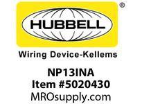 HBL_WDK NP13INA WALLPLATE 1-G BOX MT BLANK IVORY