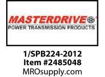 MasterDrive 1/SPB224-2012 1 GROOVE SPB SHEAVE