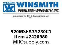 WINSMITH 920MSFA3Y230C1 920MDSFA 15 DR 56CBUSH 1 7/16 WORM GEAR REDUCER