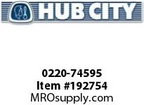 HUBCITY 0220-74595 105M 1/1 A SP 50MM BEVEL GEAR DRIVE