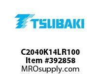 US Tsubaki C2040K14LR100 C2040 RIV 4L/K-1 100FT