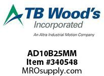 TBWOODS AD10B25MM CLAMP HUB- B C D 25MM