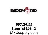 REXNORD 897.20.35 KU2010-10T 2-1/2^ SQ UHMW 166914