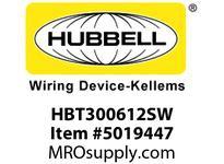 HBL_WDK HBT300612SW WBPRFRM RADI 30 6Hx12WPREGALVSTLWLL