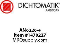 Dichtomatik AN6226-4 NU70R SYMMETRICAL SEAL AN6226 SERIES NITRILE 70 DURO SYMMETRICAL U-CUP INCH