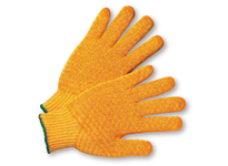 West Chester 708SKH/S Yellow Knit w/Honey Comb Finish on 2 Sides - Yellow Hem Color
