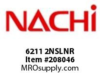 6211 2NSLNR TYPE: SEALED W/ SNAP RING BORE: 55 MILLIMETERS OUTER DIAMETER: 100 MILLIMETERS