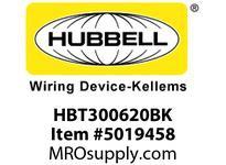 HBL_WDK HBT300620BK WBPREFORM RADI 30 6^Hx20^W BLACK
