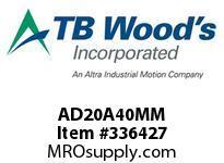 TBWOODS AD20A40MM HUB AD20-A 40MM