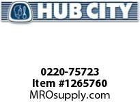 HubCity 0220-75723 SS182 7.5/1 A WR .938