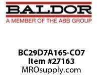 BALDOR BC29D7A165-CO7 230/460 VAC 165A DC/SCR CONT N1 ONE-WAY