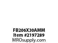 PTI FB206X30AMM 3-BOLT FLANGED BRACKET BEARING-30MM FB 200 GOLD SERIES - NORMAL DUTY -