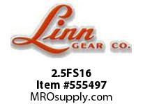 Linn-Gear 2.5FS16 STEEL SPUR GEAR  H1
