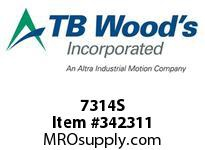 TBWOODS 7314S 7X3 1/4-SD STR PULLEY