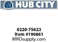 HUBCITY 0220-75623 SS215 30/1 A WR 143TC 1.000 SS WORM GEAR DRIVE