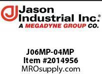 Jason J06MP-04MP ADAPTOR MALE NPT X MALE NPT