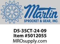 "Martin SprocketD5-35CT-24-09 CEMA D5 35 DEG 24"" CI TROUGHER CEMA D 24"" BELT WIDTH"