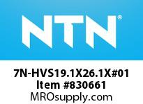 NTN 7N-HVS19.1X26.1X#01 DRAWN CUP NRB(FULL COMPLEMENT)