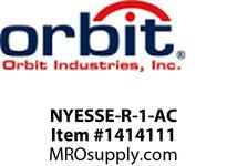 Orbit NYESSE-R-1-AC NY SURFACE EDGE-LIT EXIT 1-FACE BATT. RED