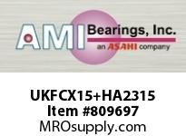 AMI UKFCX15+HA2315 2-7/16 MEDIUM WIDE ADAPTER PILOTED CARTRIDGE SINGLE ROW BALL BEARING