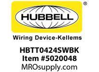 HBL_WDK HBTT0424SWBK WBPRFRM RADI T 4Hx24W BLACKSTLWLL
