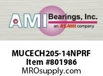 AMI MUCECH205-14NPRF 7/8 STAINLESS SET SCREW RF NICKEL H SINGLE ROW BALL BEARING