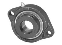 SALF204-20MM  High Quality 20mm Eccentric Locking Bearing with 2 Bolt Flange