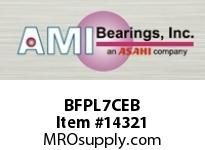 AMI BFPL7CEB 35MM NARROW SET SCREW BLACK 4-BOLT PLASTIC HSG W/C.C & BS