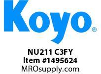 Koyo Bearing NU211 C3FY CYLINDRICAL ROLLER BEARING
