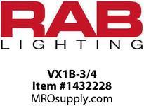 RAB VX1B-3/4 VAPORPROOF 100 CEILING 4 BOX 3/4 LESS GLOBE