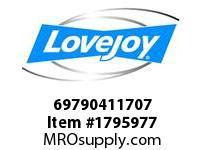 LoveJoy 69790411707 F 5E FH 6.490/6.492 1-1/2KW
