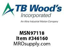 TBWOODS MSN97118 MSN-97X1 1/8 VAR SHEAVE