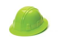 Pyramex HP24131 Hi Vis Green-Full Brim 4 Pt Ratchet Suspension