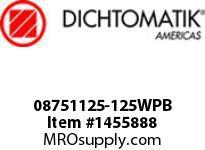 Dichtomatik 08751125-125WPB WIPER