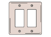 HBL-WDK NP262GY WALLPLATE 2-G 2) RECT GY