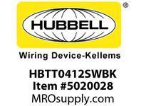 HBL_WDK HBTT0412SWBK WBPRFRM RADI T 4Hx12W BLACKSTLWLL