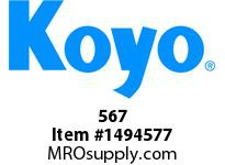 Koyo Bearing 567 TAPERED ROLLER BEARING