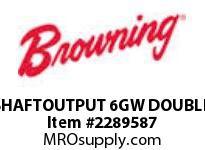 Browning SHAFTOUTPUT 6GW DOUBLERENEWAL PARTS USGM RB