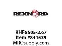 REXNORD KHF8505-2.67 KHF8505-2.67 KHF8505 2.67 INCH WIDE RUBBERTOP MA