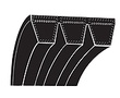 Bando 4-8V1700 POWER ACE COMBO V-BELT V-BELTS BANDED 3V-5V-8V