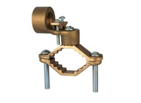 NSI G-10 BRONZE GROUND CLAMP FOR RIGID CONDUIT 1^ CONDUIT HUB 1 1/4^ - 2^ WATER PIPE 3/0 STR GROUND WIRE MAX