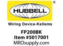HBL_WDK FP200BK 2^ FF PLUG BLACK