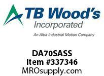 TBWOODS DA70SASS DA70 SPACER ASSEMBLY SS DISC