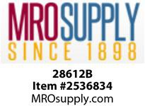 MRO 28612B 1/4 BLACK POLY HEX NIPPLE (Package of 10)