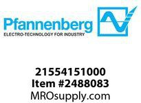 Pfannenberg 21554151000 PY X-MA-05 115V AC clear RAL3000 5 Joules Flashing Strobe Beacon with 8 Tone Sounder 100 dB (A)