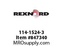 REXNORD 114-1524-3 KU5966-12T 1-1/2 SQ UH KU5966-12T SOLID SPROCKET WITH 1-1/