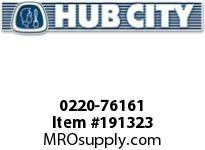 HUBCITY 0220-76161 SS325 60/1 A WR 56C 2.188 SS WORM GEAR DRIVE