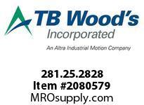 TBWOODS 281.25.2828 VARITORK CLUTCH 25 8MM--8MM