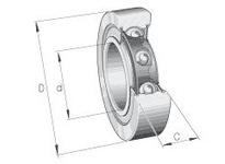 INA LR201-2RSR Yoke type track roller