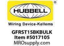 HBL_WDK GFRST15BKBULK 15A COM SELF TEST GFR BLACK BULK